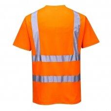 Medvilniniai trumparankoviai marškinėliai PORTWEST S170, oranžiniai