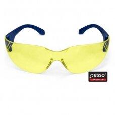 Apsauginiai akiniai Pesso ASCRACKG , geltoni