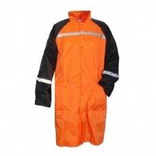 Apsiaustas nuo lietaus GL8OR, oranžinis/mėlynas