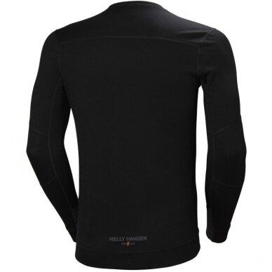 Apatiniai marškinėliai HELLY HANSEN Lifa Merino Crewneck, juodi 2