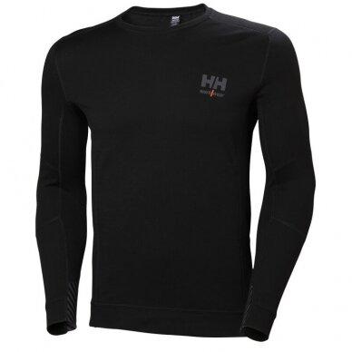 Apatiniai marškinėliai HELLY HANSEN Lifa Merino Crewneck, juodi