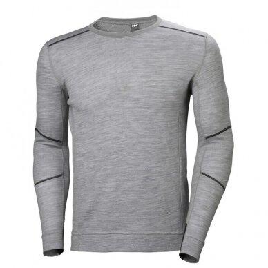 Apatiniai marškinėliai HELLY HANSEN Lifa Merino Crewneck, pilki
