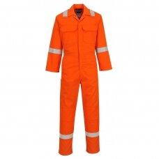 Atsparus liepsnai PORTWEST BIZ5 kombinezonas, oranžinis