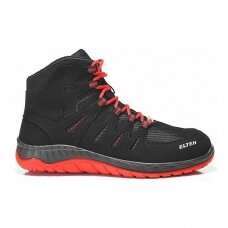 Batai ELTEN Maddox Black Red Mid ESD S3 SRC, juodi/raudoni