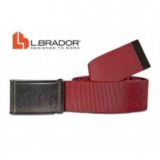 Diržas tekstilinis L.Brador 577, raudonas