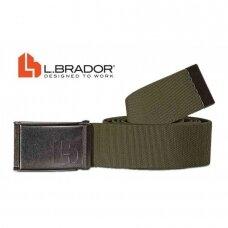 Diržas tekstilinis žalias L.Brador 577, žalias