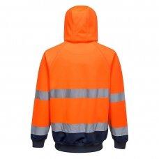 Dviejų spalvų bliuzonas su gobtuvu PORTWEST B316, oranžinis