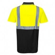 Dviejų spalvų polo marškinėliai PORTWEST S479, geltoni/tamsiai mėlyni