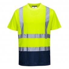 Dvispalviai marškinėliai PORTWEST S378, geltoni/tamsiai mėlyni