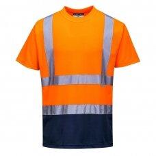 Dvispalviai marškinėliai PORTWEST S378, oranžiniai/mėlyni