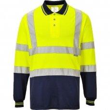 Dvispalviai Polo marškinėliai ilgomis rankovėmis PORTWEST S279 , geltoni