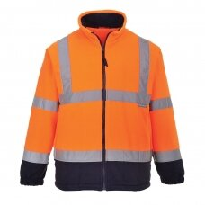 Dvispalvis flisinis džemperis PORTWEST F301, oranžinis/tamsiai mėlynas