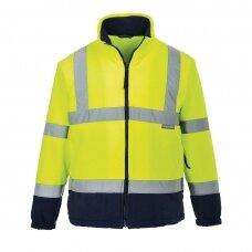 Dvispalvis flisinis džemperis PORTWEST F301, geltonas/tamsiai mėlynas