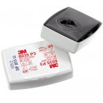 Filtrai 3M™ 6035 puskaukėms, kaukėms nuo kietųjų ir skystųjų dalelių (dulkių)