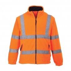Flisinis džemperis su tinklinės medžiagos pamušalu PORTWEST F300, oranžinis