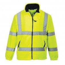 Flisinis džemperis su tinklinės medžiagos pamušalu PORTWEST F300, geltonas