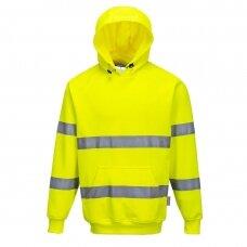 Gero matomumo džemperis su gobtuvu PORTWEST B304, geltonas
