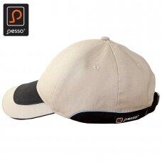 Kepurė PESSO KPBZ su snapeliu, smėlio spalvos