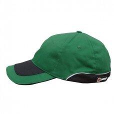 Kepurė su snapeliu PESSO KPZ, žalia/juoda