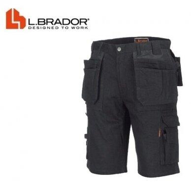 L. Brador šortai 111B, juodi