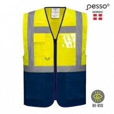 Liemenė Pesso LSGMP signalinė, geltona/mėlyna