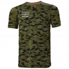 Marškinėliai HELLY HANSEN Kensington, kamufliažiniai
