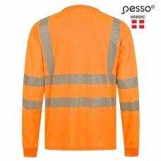 Marškinėliai PESSO HVMIL Hi-VIS ilgomis rankovėmis,oranžiniai