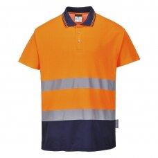 Medvilniniai polo marškinėliai PORTWEST S174, oranžiniai