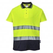 Medvilniniai polo marškinėliai PORTWEST S174, geltoni