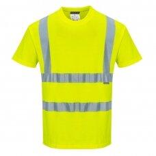 Medvilniniai trumparankoviai marškinėliai PORTWEST S170, geltona