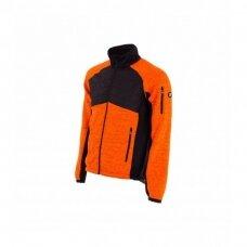 Megztas Baltic Canvas Hybrid džemperis, oranžinis