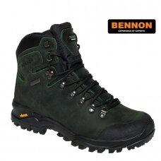 Odiniai žygio batai BENNON Terenno High O2, tamsiai žali