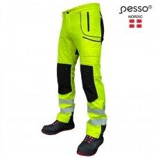 Pašiltintos softshell Pesso Nebraska darbo kelnės, geltonos