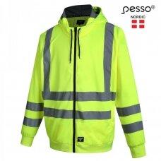 Darbo džemperis PESSO FL03 su kapišonu ir atšvaitinėmis juostomis, geltonas