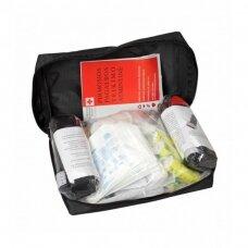 Pirmosios pagalbos rinkinys (vaistinėlė) medžiaginėje pakuotėje