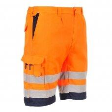 Poliesterio ir medvilnės šortai PORTWEST E043, oranžiniai