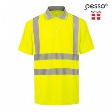 Polo marškinėliai PESSO HVPG Hi-vis, geltoni