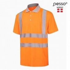 Polo marškinėliai PESSO HVPOR, Hi-vis, oranžiniai