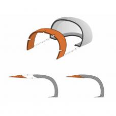 Pusbačiai darbui BASE RAFTING S3  su plastikine nosele