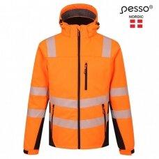 Šilta, ryškaus matomumo softshell Pesso CALGARY striukė, oranžinė