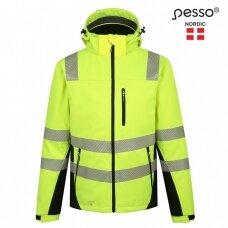 Šilta, ryškaus matomumo softshell Pesso CALGARY striukė, geltona