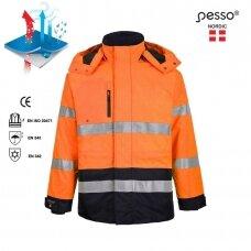Šilta striukė Pesso Montreal,oranžinė