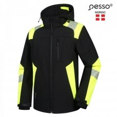 Softshell striukė Pesso ASTRA , juoda/geltona