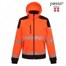 Softshell striukė Pesso PALERMO HI-VIS, ryškaus matomumo oranžinė