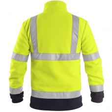 Šviesą atspindintis džemperis darbui PRESTON, geltonas