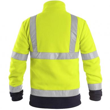 Šviesą atspindintis džemperis darbui PRESTON, geltonas 2