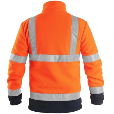 Šviesą atspindintis džemperis darbui PRESTON, oranžinis 2