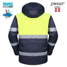 Žieminė šilta striukė Pesso HANA, mėlyna, geltona